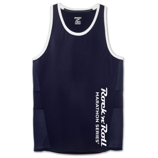ROCK N ROLL MARATHON SERIES MEN'S SIDESTEP STEALTH SINGLET