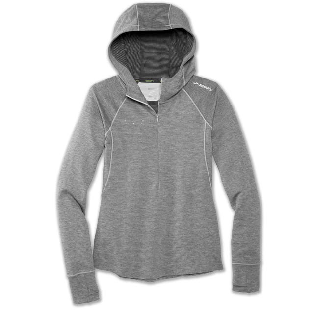 ROCK N ROLL MARATHON SERIES NOTCH THERMAL HOODIE HEATHER STERLIN Ladies