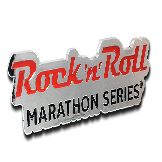 ROCK N ROLL MARATHON SERIES LOGO AUTO EMBLEM RED