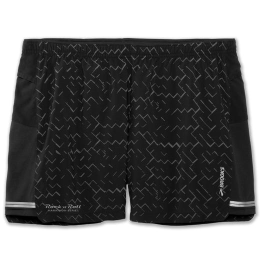 "Brooks Running Sherpa 5"" Short BLACK/NEBULA RE MEN XL"