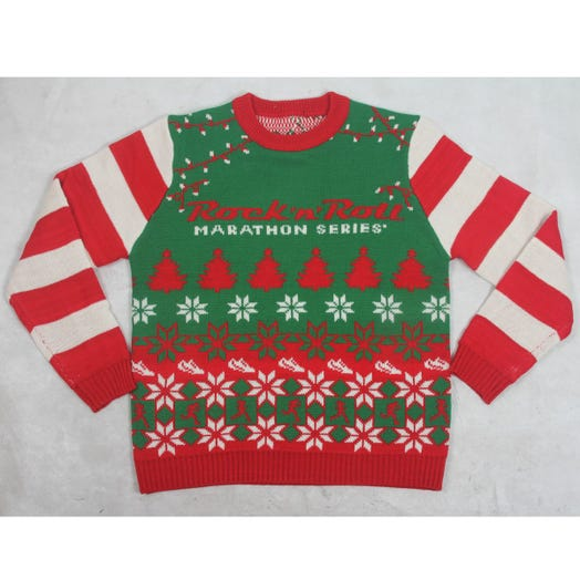 ROCK N ROLL MARATHON SERIES UGLY X-MAS SWEATER MENS