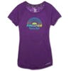 ROCK N ROLL MARATHON SERIES WOMEN'S FINISHER BURNOUT SHORT SLEEVE TEE