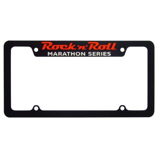 Rock 'n' Roll Marathon Series License Plate Frame - Black