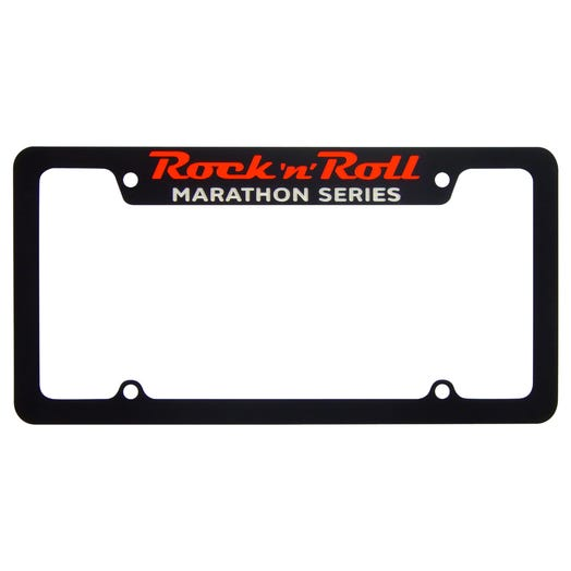 Rock 'n' Roll Marathon Series License Plate Frame - Black - Aircraft Grade Aluminum