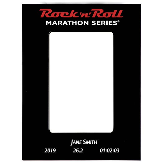 Rock 'n' Roll Marathon Series Finisher Personalized Photo Frame - Black