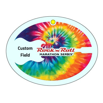 Rock 'n' Roll Marathon Series Tie Dye Personalized Keepsake