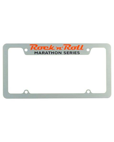 Rock 'n' Roll Marathon Series License Plate Frame - Silver