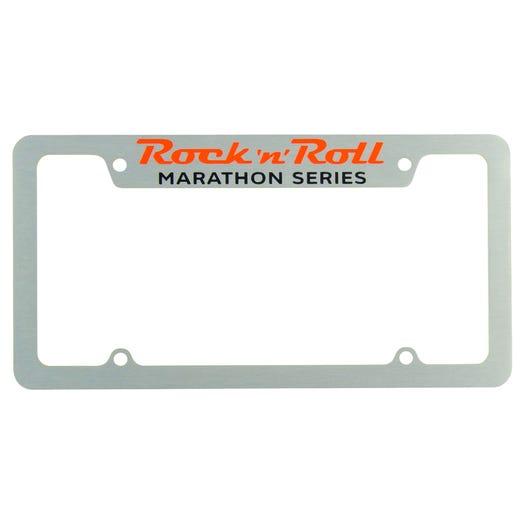 Rock 'n' Roll Marathon Series License Plate Frame - Silver - Aircraft Grade Aluminum