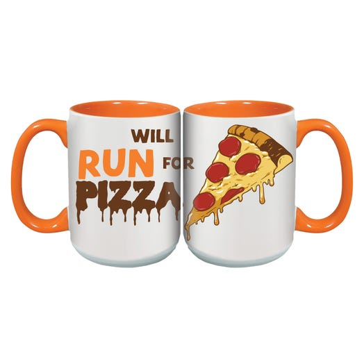 WILL RUN FOR PIZZA MUG