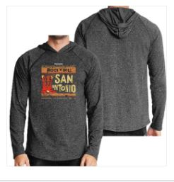 ROCK N ROLL MARATHON SERIES MEN'S SAT BOOTS POSTER PULLOVER - GREY