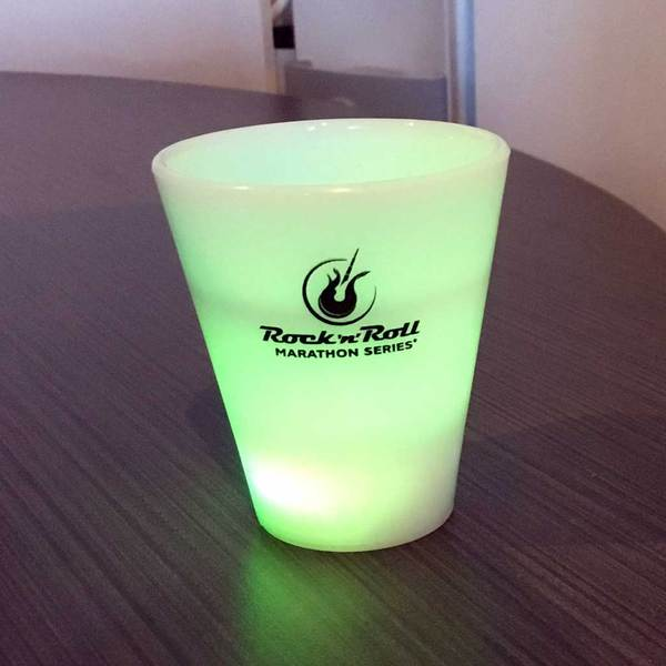 ROCK N ROLL MARATHON SERIES SHOT GLASS - LIGHT UP WHITE