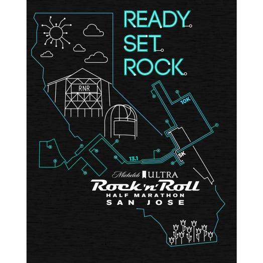 ROCK N ROLL MARATHON SERIES SAN JOSE MEN'S MAP HOODIE