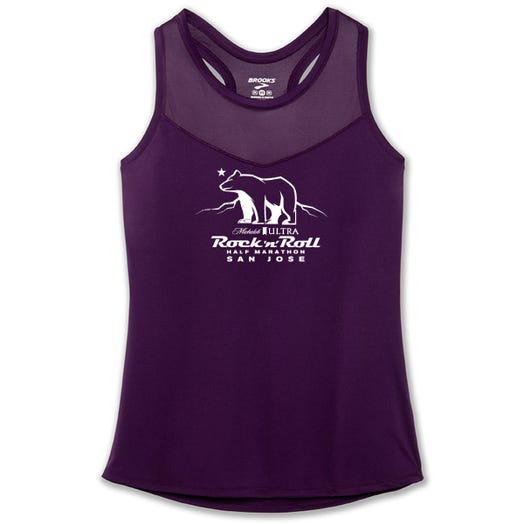 ROCK N ROLL MARATHON SERIES SAN JOSE 2019 WOMEN'S BEAR STEALTH TANK