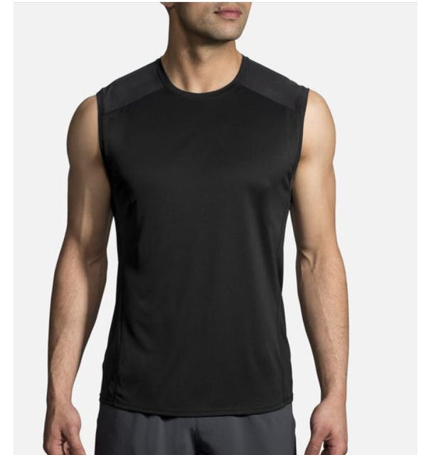Brooks Running Men's Stealth Sleeveless - Black/Asphalt