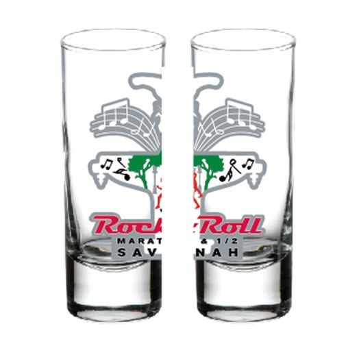 ROCK N ROLL MARATHON SERIES SAVANNAH 2019 EVENT SHOT GLASS