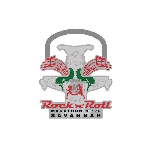 ROCK N ROLL MARATHON SERIES SAVANNAH 2019 EVENT MINI MEDAL PIN