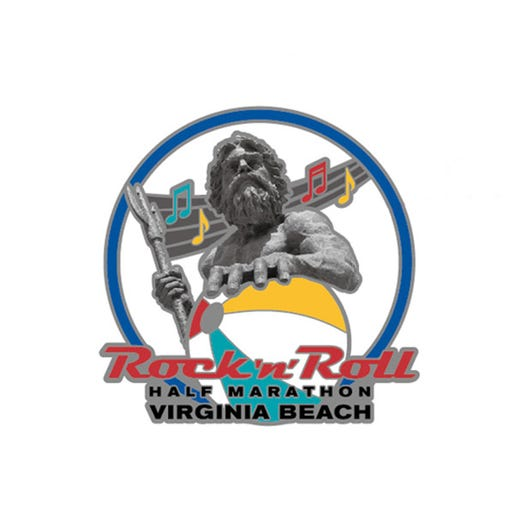 ROCK N ROLL MARATHON SERIES VIRGINIA BEACH EVENT MINI MEDAL MAGNET