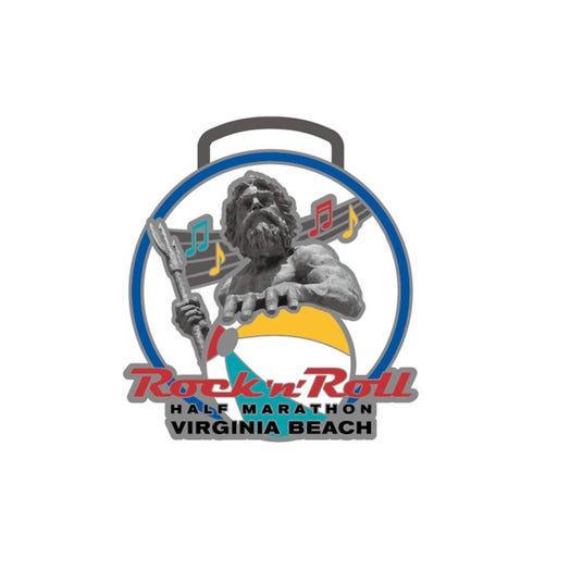 ROCK N ROLL MARATHON SERIES VIRGINIA BEACH EVENT MINI MEDAL PIN
