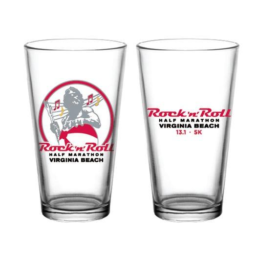 ROCK N ROLL MARATHON SERIES VIRGINIA BEACH EVENT PINT GLASS