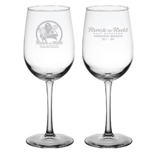 ROCK N ROLL MARATHON SERIES VIRGINIA BEACH EVENT WINE GLASS