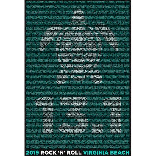 ROCK N ROLL MARATHON SERIES VIRGINIA BEACH 2019 WOMEN'S 13.1K A-K NAME HOODIE