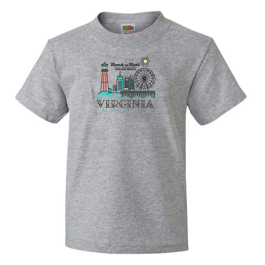 ROCK N ROLL MARATHON SERIES VIRGINIA BEACH YOUTH SHORT SLEEVE TEE