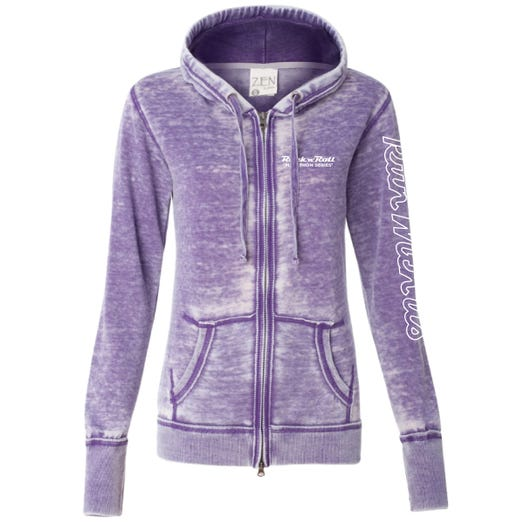 ROCK N ROLL MARATHON SERIES WOMEN'S FULL ZIP RUN HOODIE - PURPLE