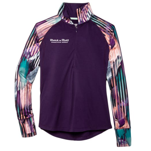 ROCK N ROLL MARATHON SERIES WOMEN'S DASH HALF ZIP