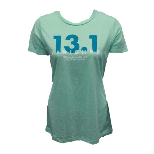 ROCK N ROLL MARATHON SERIES LADIES 13.1 FINISHER SHORT SLEEVE - MINT