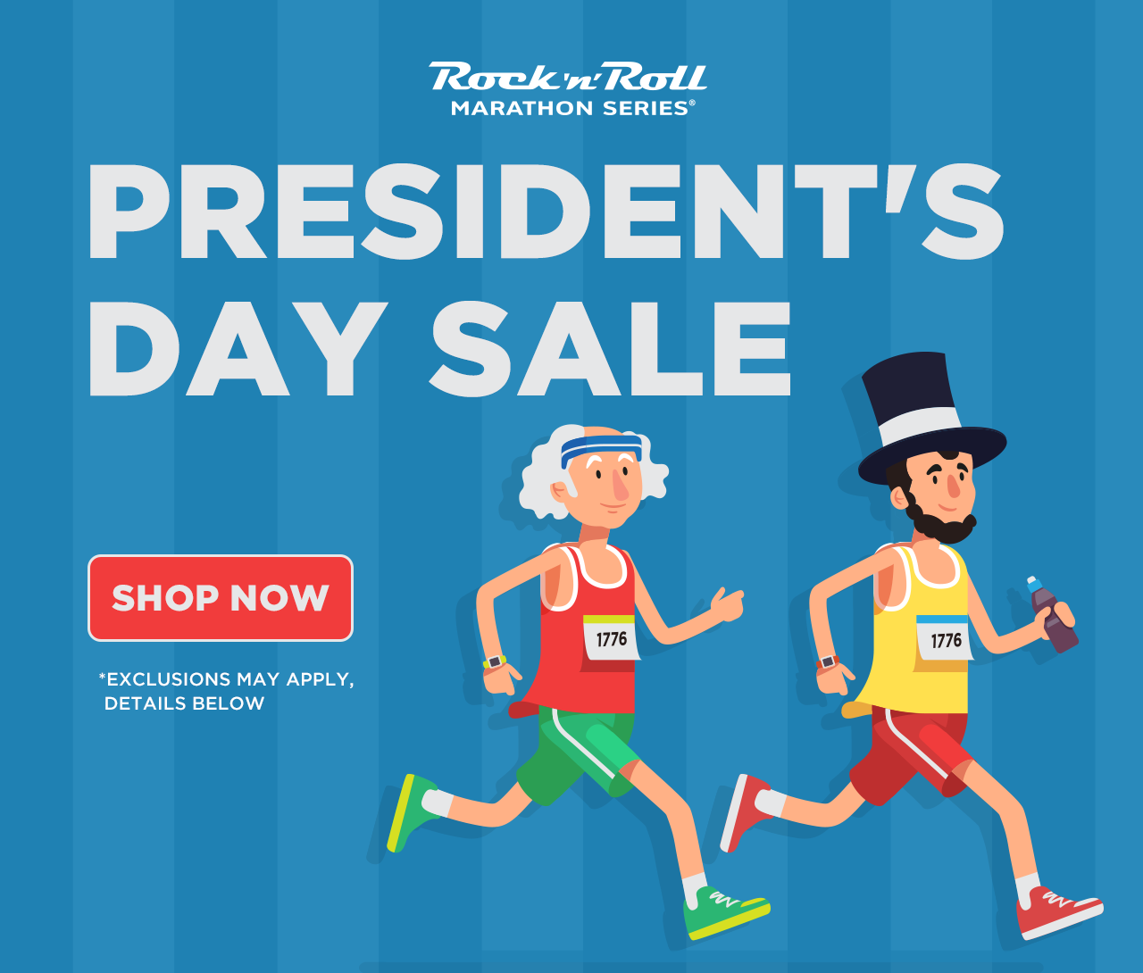 ROCK'N'ROLL PRESIDENT'S DAY SALE - TAKE AN ADDITIONAL 20% OFF
